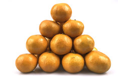 Triangle of the mandarins Royalty Free Stock Photo