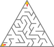 Triangle Maze Royalty Free Stock Photo
