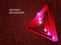 Triangle metal sparkle on background. stock illustration