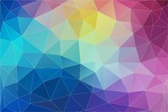 Triangle mosaic abstrat background. Flat multicolor 2D Abstract geometric background for your design stock illustration