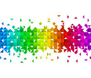 Triangle mosaic background. Abstract triangle mosaic on white background Stock Photo