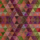 Patchwork triangle mosaic pattern with effect of stained glass. Triangle mosaic pattern with effect of stained glass royalty free stock images