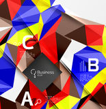Triangle mosaic vector abstract template Royalty Free Stock Photos