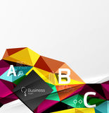Triangle mosaic vector abstract template Stock Photo