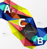 Triangle mosaic vector abstract template Royalty Free Stock Image