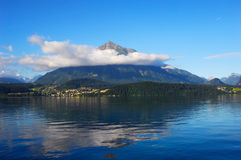 Triangle Mountain lake Royalty Free Stock Image