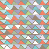 Triangle multicolor seamless pattern. Royalty Free Stock Photo