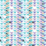 Triangle multicolor seamless pattern. Royalty Free Stock Photography