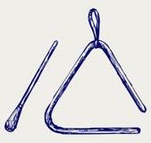 Triangle musicale Image libre de droits