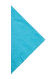 Triangle napkin isolated on white background Royalty Free Stock Images