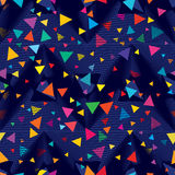 Triangle net hole fly triangle seamless pattern Stock Images
