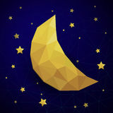 Triangle new moon Royalty Free Stock Images