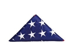 Triangle old glory. Old glory bended in a triangle isolated on white background Royalty Free Stock Photography