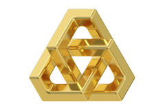 Triangle optical illusion, 3D rendering Royalty Free Stock Photography