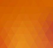 Triangle orange et rouge Photos libres de droits