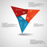 Triangle origami infographic light Royalty Free Stock Images