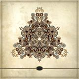 Triangle ornament design on grunge background Stock Photos