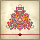 Triangle ornament design on grunge background Royalty Free Stock Photography