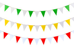 Triangle papers hanging on the rope. Stock Image