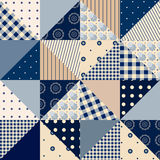 Triangle  patchwork. Seamless background pattern. Will tile endlessly Royalty Free Stock Photos
