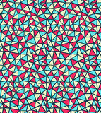 Triangle pattern. Seamless colorful triangle pattern. Vector Royalty Free Stock Photo