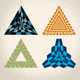 Triangle pattern background Stock Photo