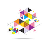 Triangle pattern background design Stock Photo