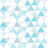 Triangle pattern  background Geometric abstract line blue. Illustration Royalty Free Stock Photography
