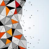 Triangle pattern background. Stock Photo
