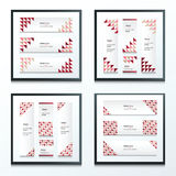Triangle pattern  banner   Brown, Pink, Red Styles set Stock Photos