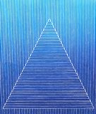 A triangle pattern on blue strips stock photos