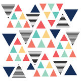 Triangle pattern color variation Stock Photography