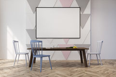 Triangle pattern dining room or office, pastel Royalty Free Stock Photos