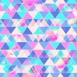 Triangle pattern with drop grunge royalty free illustration