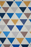 Triangle pattern fabric Royalty Free Stock Image
