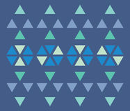 Triangle pattern. Geometric background pattern formed with triangles vector illustration