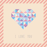 Triangle pattern heart card1 Royalty Free Stock Photo