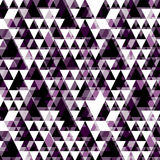 Triangle pattern. Including seamless sample in swatch panel Stock Photography