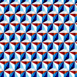 Triangle pattern. Including seamless sample in swatch panel Stock Photo