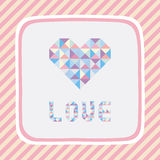 Triangle pattern love card1 Stock Image