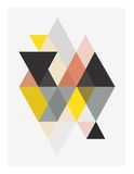 Triangle pattern stock illustration