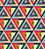Triangle pattern. Multicolor triangle pattern including seamless sample in swatch panel Stock Image