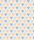 Triangle pattern of multicolour dots. Stock Images