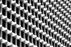 Free Triangle Pattern Of Architecture Geometric. Details Of Cement Building. Modern Wall. Polygonal Structure And Line. Black And White Royalty Free Stock Image - 133739216