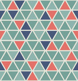 Triangle pattern. Seamless and retro style design. Editable vector file and isolated background is available Vector Illustration