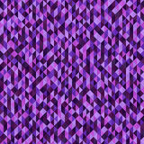 Triangle pattern. Seamless vector. Background with amethyst, lavender, plum, purple, violet triangles Stock Photography