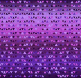 Triangle pattern. Seamless vector. Background: amethyst, lavender, plum, purple, violet triangles of different size on gradient backdrop Royalty Free Stock Photo