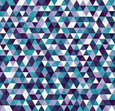 Triangle pattern. Seamless vector. With blue, green, lavender, purple, white triangles Royalty Free Stock Photography