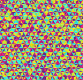 Triangle pattern. Seamless vector geometric background Stock Photography