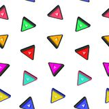 Triangle Pattern Seamless With White Background. And 3d Animation Style Royalty Free Stock Images